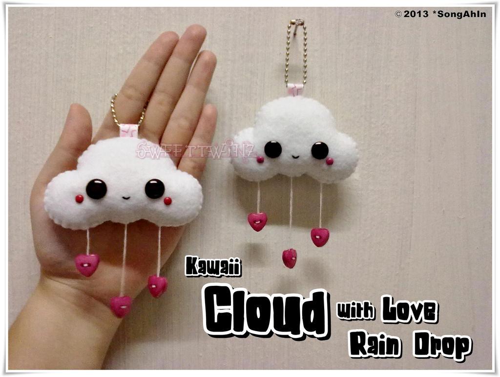 Kawaii Cloud with Love Rain Drop by SongAhIn
