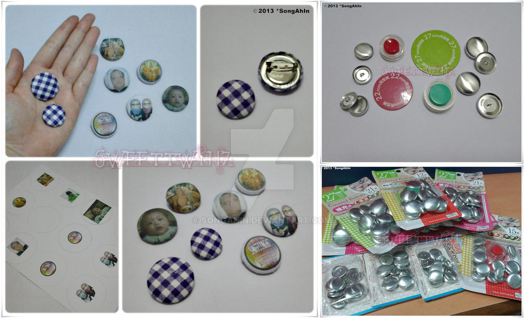 Fabric Covered Button @ Brooch by SongAhIn