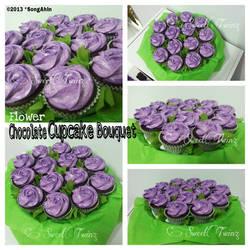 Flower Chocolate Cupcake Bouquet