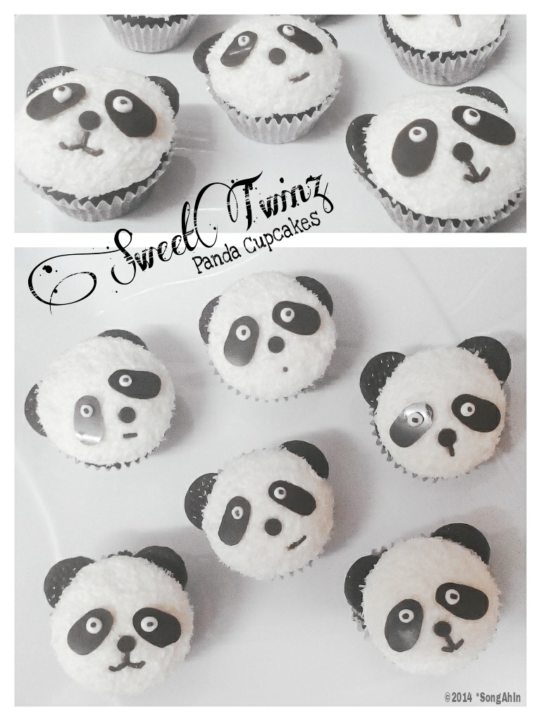 Panda Cupcakes by SongAhIn