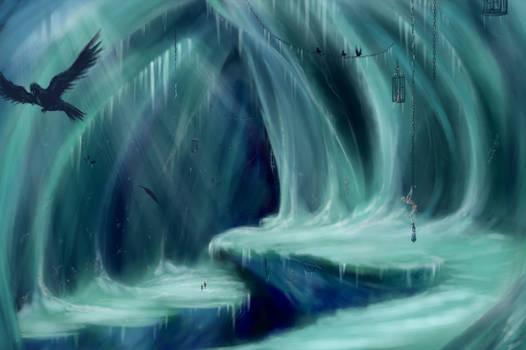 Ice crevasse dungeon design
