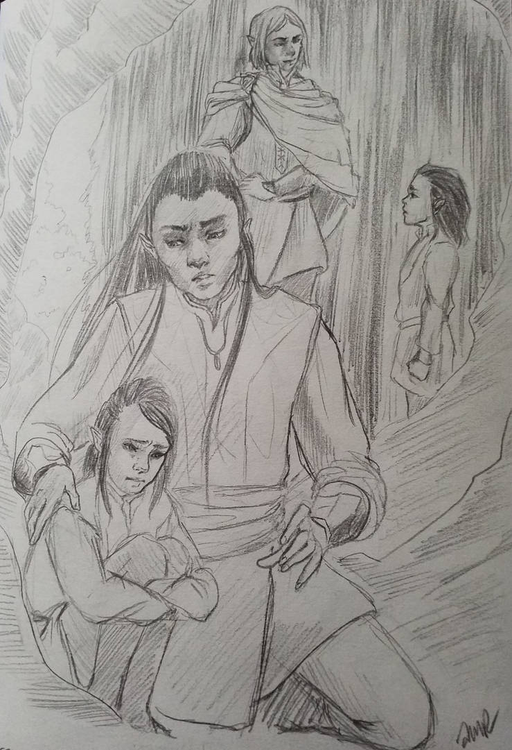 The Eldest Sons of Feanor release Elros and Elrond