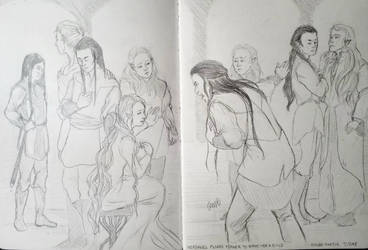 Nerdanel pleads Feanor to spare her a child