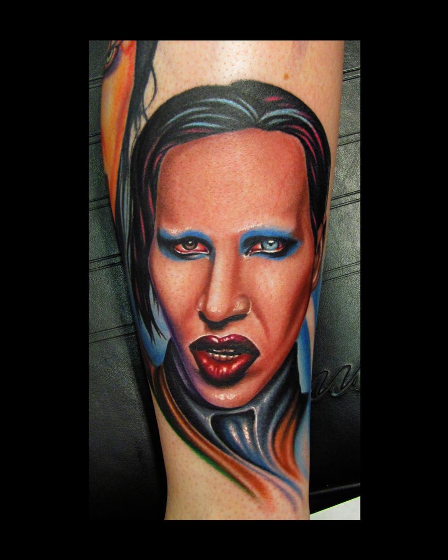 Marilyn Manson Tattos: Marilyn Manson Portrait Tattoo By 3598Joshuah On DeviantArt