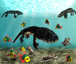 Temnospondyl with friends by mojcaj