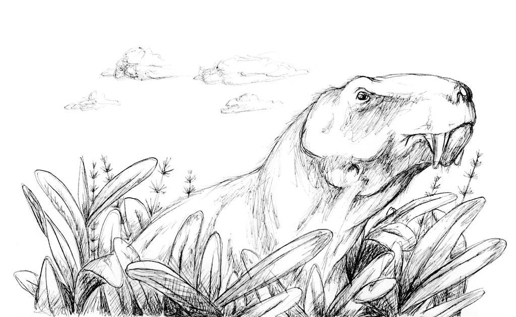 Gorgonopsian Sketch by mojcaj