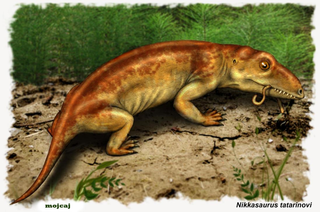 Nikkasaurus foraging by mojcaj