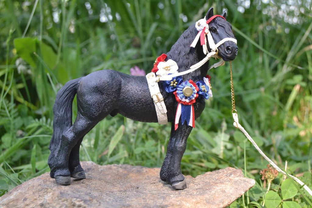 Patriotic horse: Medieval Dutch in a modern tack by mojcaj