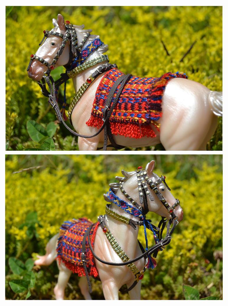 Patriotic horse: A Turkmenstan Akhal teke by mojcaj