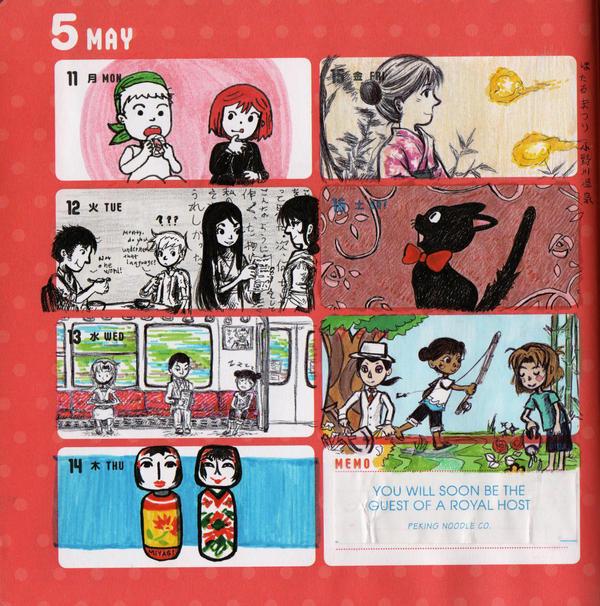 2015 - Kumamon Day Planner - Week 20 by sweet-suzume