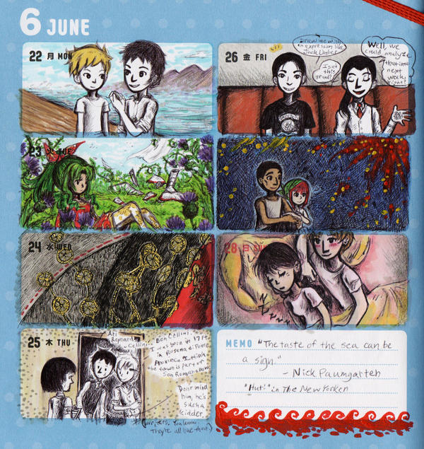2015 - Kumamon Day Planner - Week 26 by sweet-suzume