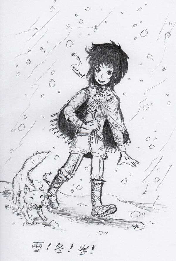 Snow!  Winter!  Cold! - Friend of Foxes by sweet-suzume