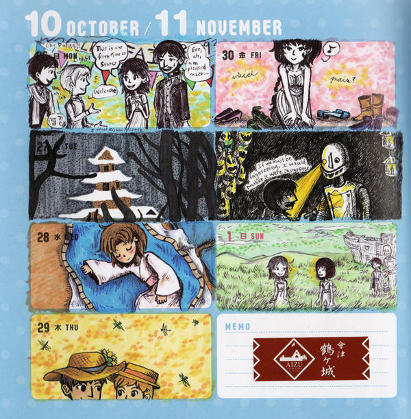 2015 - Kumamon Day Planner - Week 43 by sweet-suzume