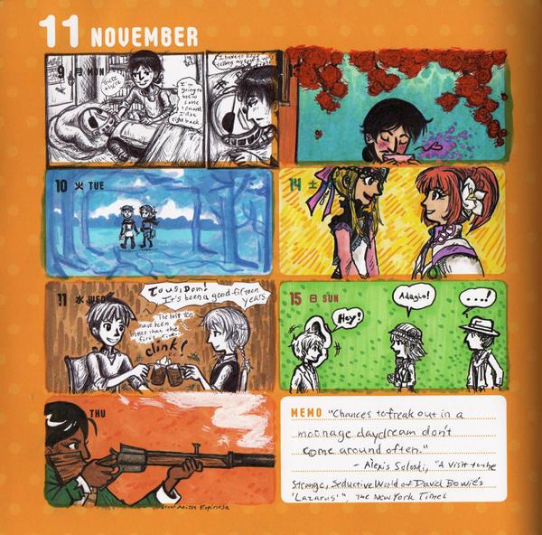 2015 - Kumamon Day Planner - Week 45 by sweet-suzume