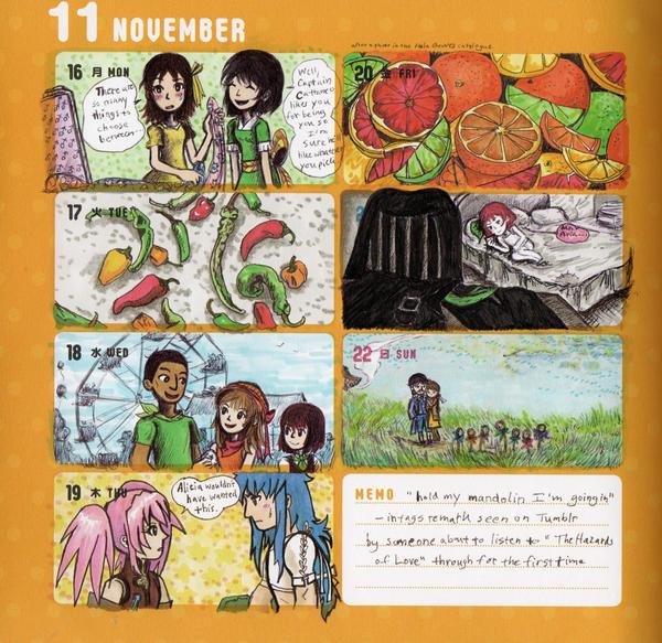 2015 - Kumamon Day Planner - Week 46 by sweet-suzume