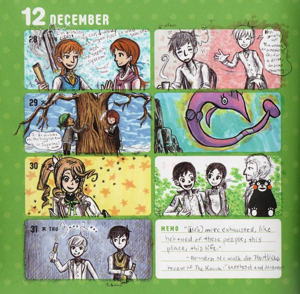 2015 - Kumamon Day Planner - Week 52 by sweet-suzume