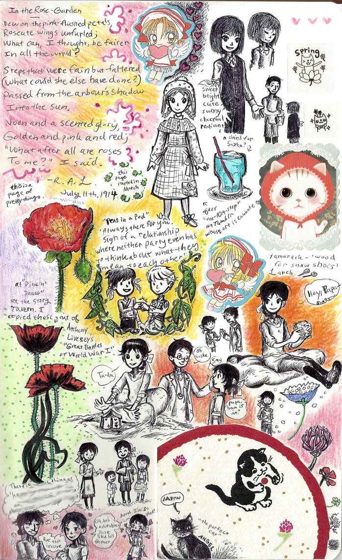 page - peapods and poppies by sweet-suzume
