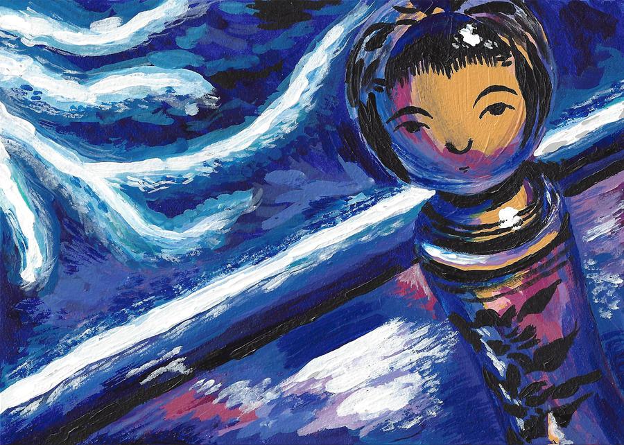 kokeshi electric by sweet-suzume