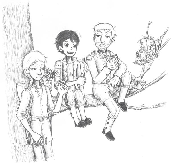 three friends by sweet-suzume
