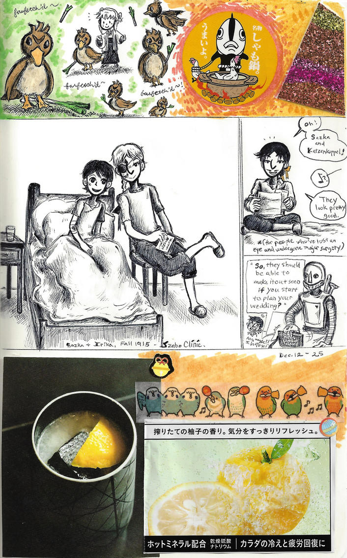 page - Farfetch'd, yuzu, convalescence by sweet-suzume