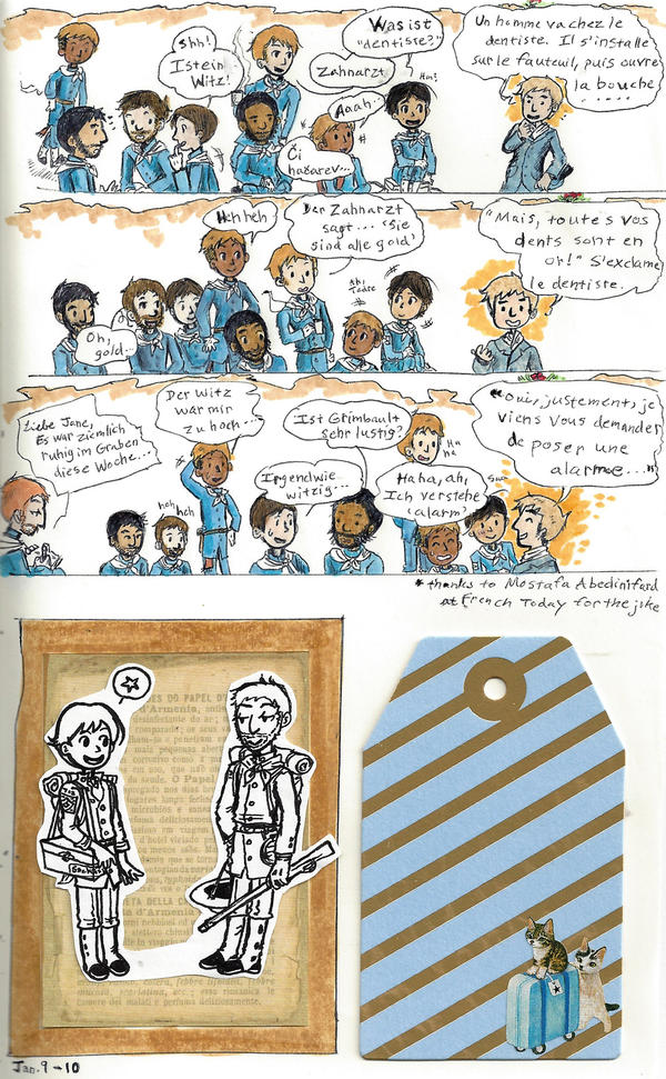 page - soldiering life, language gap by sweet-suzume