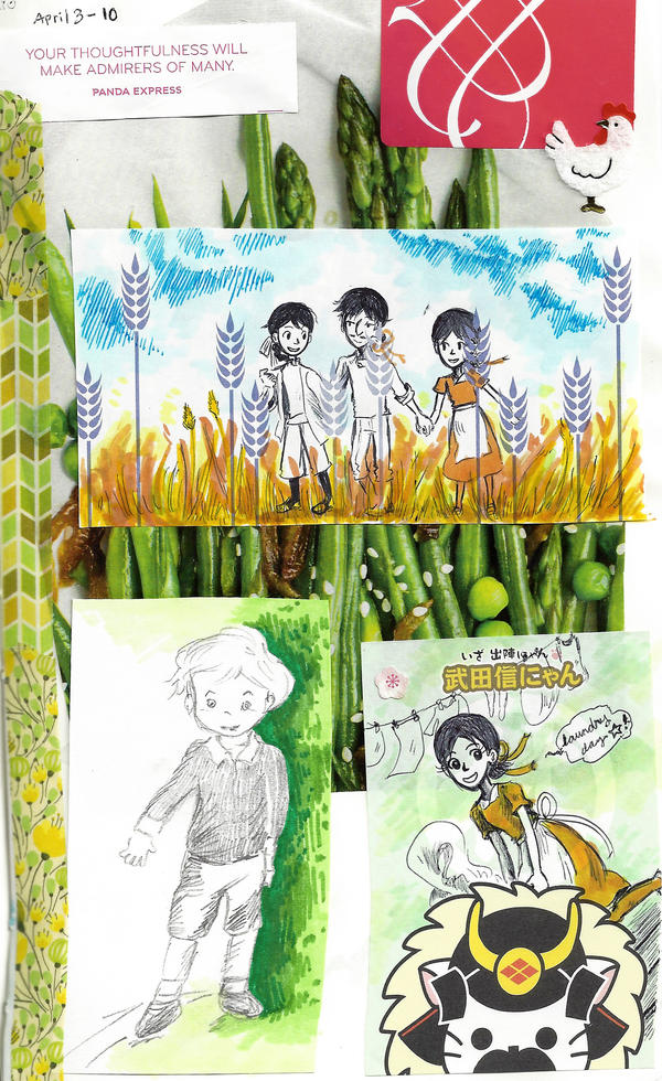 page - green as asparagus, gold as wheat by sweet-suzume