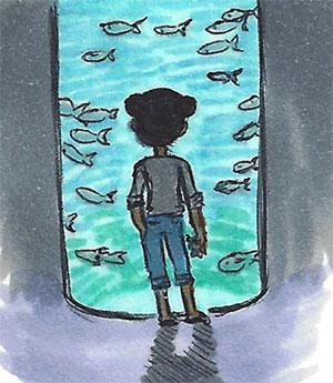 aquarium cylinder by sweet-suzume