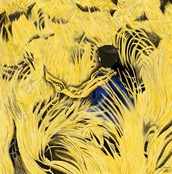Sea of Golden Grass by sweet-suzume