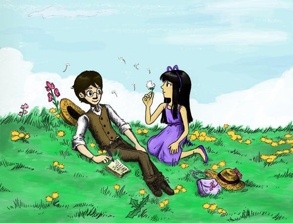 Field of Dandelions by sweet-suzume
