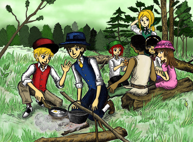 Camping (Green) by sweet-suzume