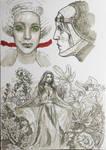 Ink Sketch - Flowers