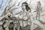 Ink Sketch - Game Characters by gkpainting