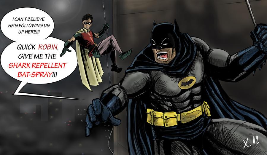 Batman and Robin vs an old enemy by Xavtkd