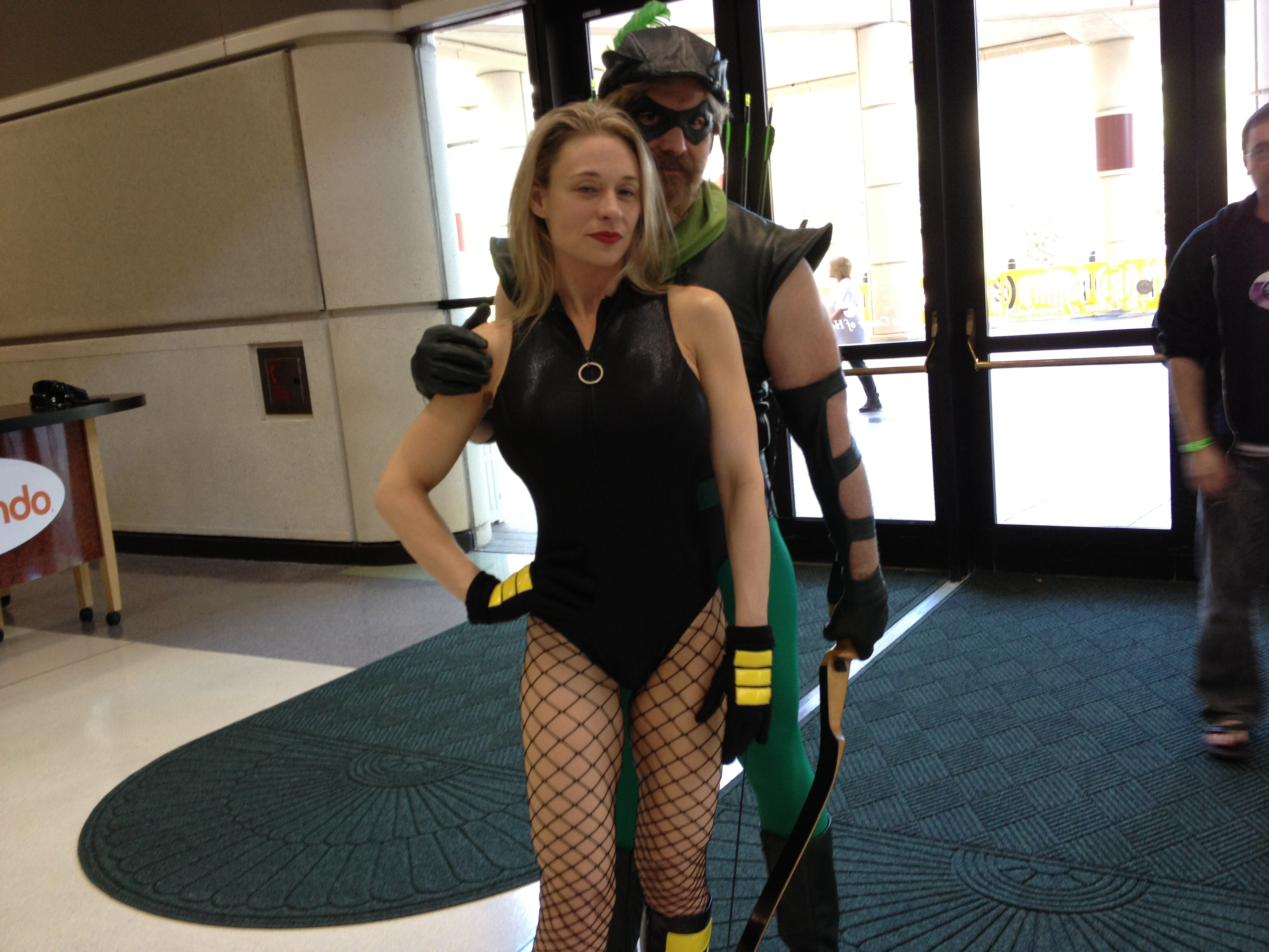 Megacon 2013 Green Arrow And Black Canary By ChriSpaiNess