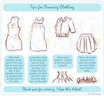 Tips For Drawing Clothing by winepire