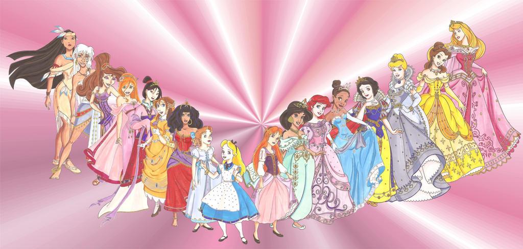 Disney Glamour Girls by Sil-Coke