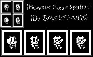 !Papyrus Face Sprites (By DAVEUTFAN75)! ^3^ by DAVEUTFAN75