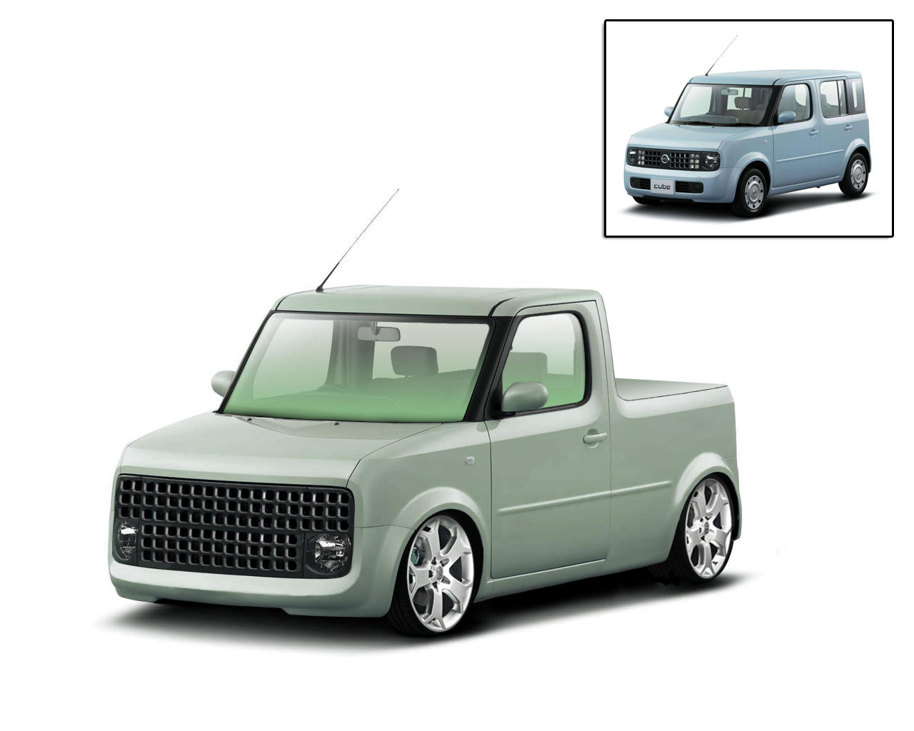 nissan cube by caingoe on deviantart. Black Bedroom Furniture Sets. Home Design Ideas