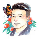 Boy And Flower 4 - Asclepias