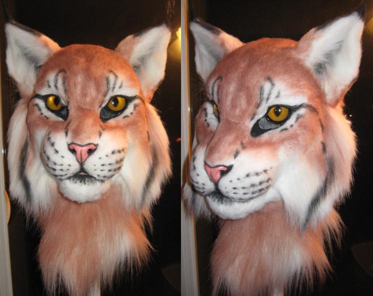 Lynx mask half painted