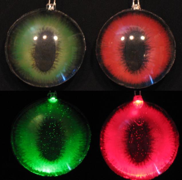 Red Green fox LED eyes by Monoyasha