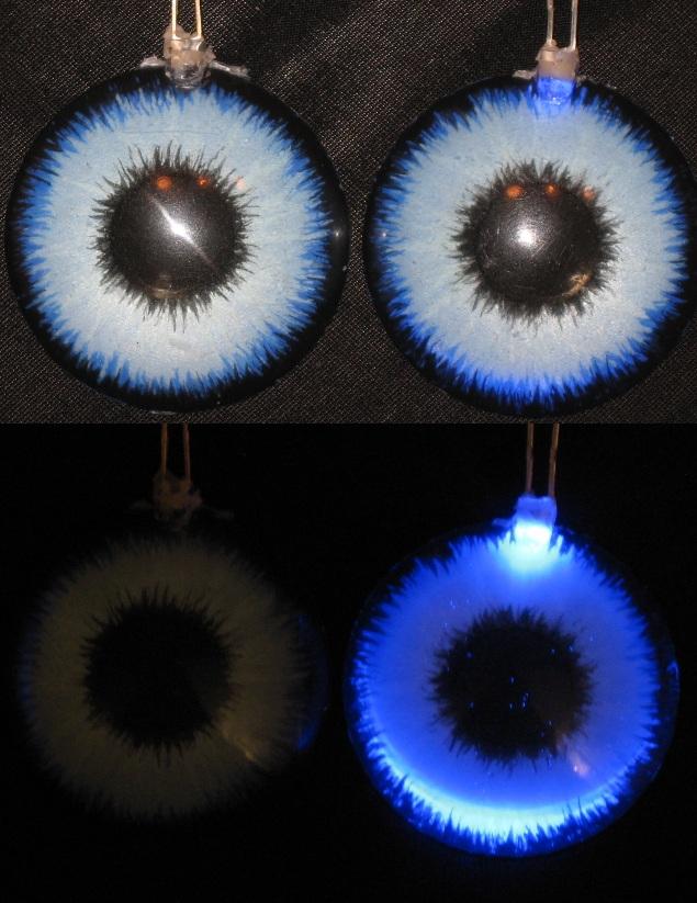 3cm iceblue LED eyes by Monoyasha