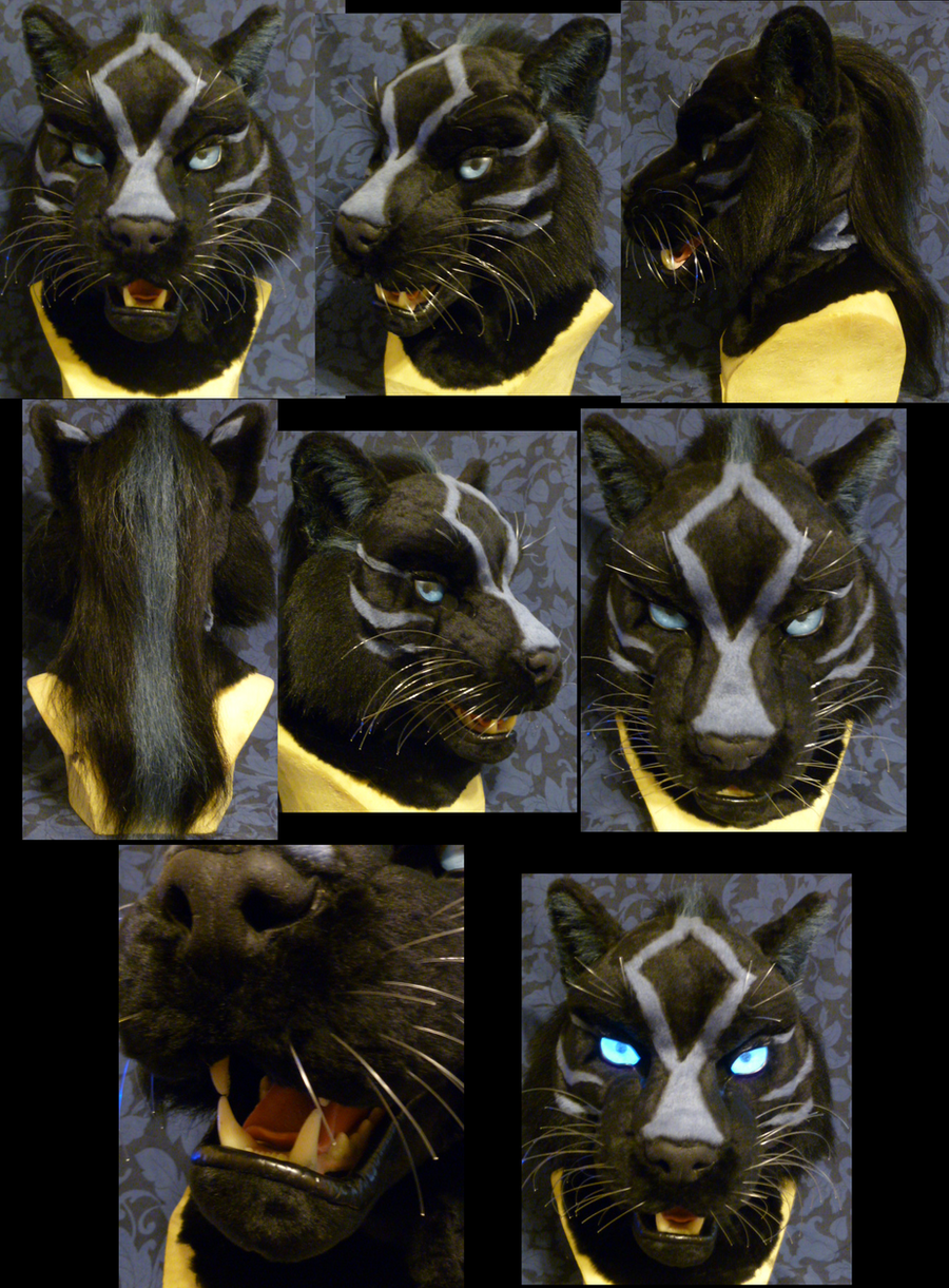 Talle black tiger head by Monoyasha