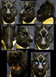 Talle black tiger head