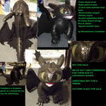 Upright toothless plush not for sale