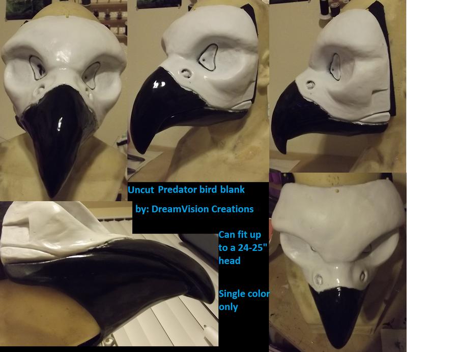 Uncut predator bird resin blank by Monoyasha