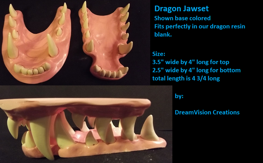 Base colored dragon jawset by Monoyasha