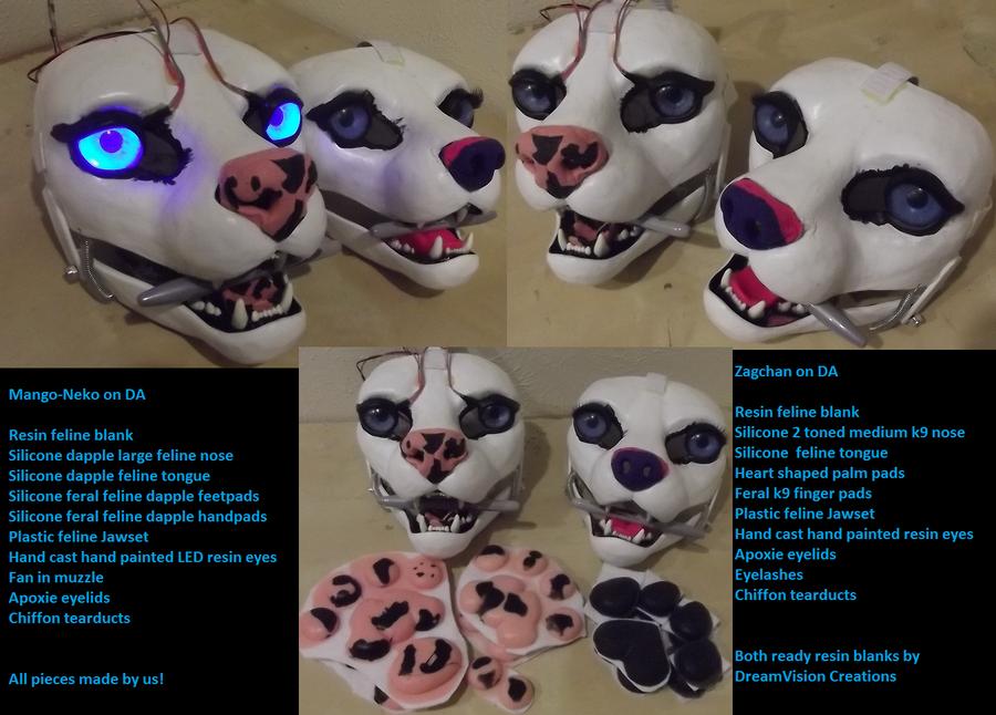 Feline ready resin blanks by Monoyasha