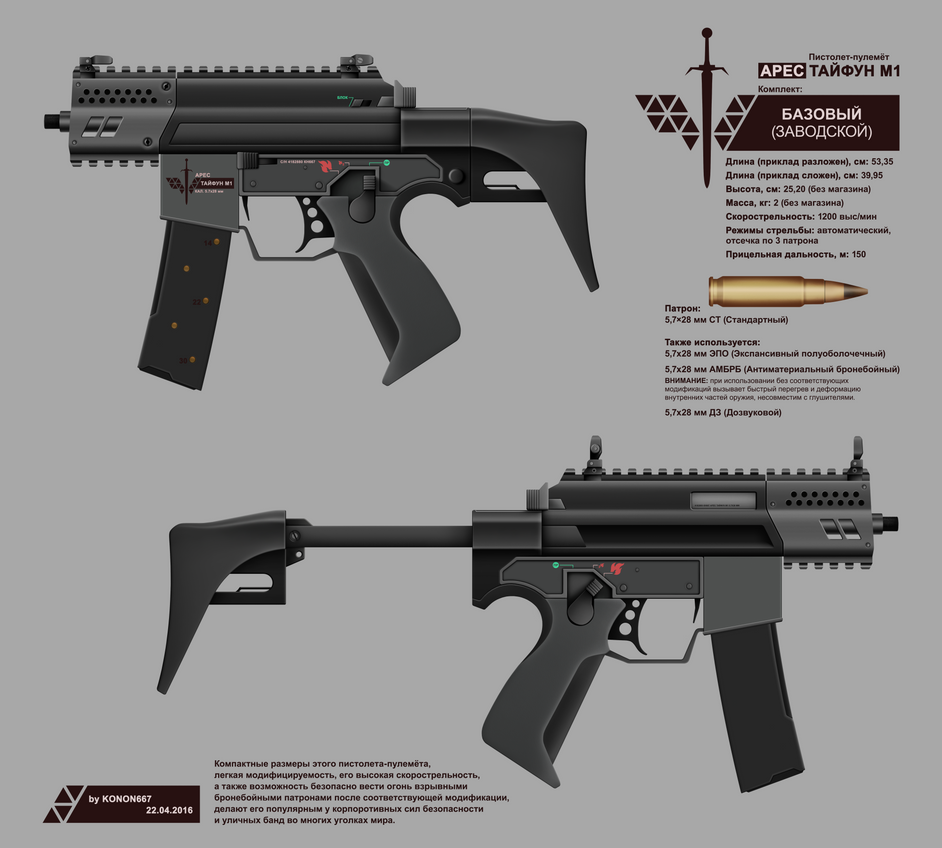 ARES SMG TYPHOON M1 (SERIAL KIT) by konon667
