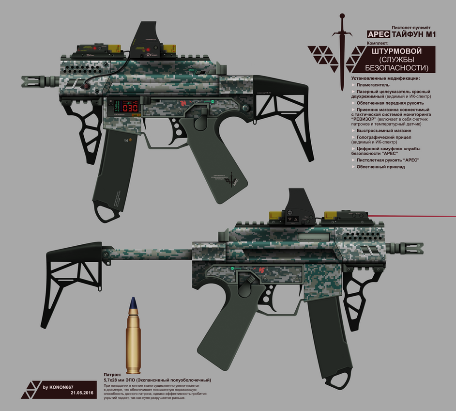 ARES SMG TYPHOON M1 (SECURITY FORCES ASSAULT KIT) by konon667